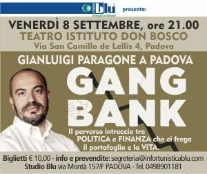 Studio Blu presenta Gianluigi Paragone Gang Bank