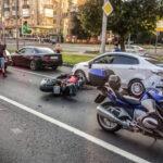 caduta in moto